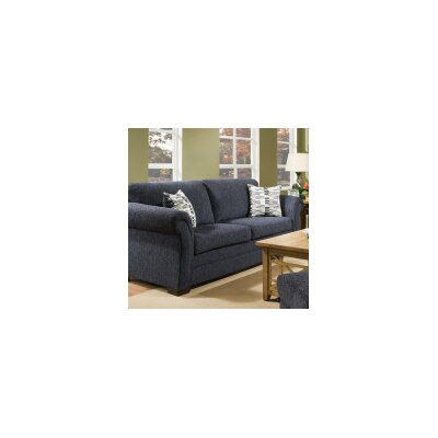 Simmons Upholstery Balcones Sofa Upholstery: Blue