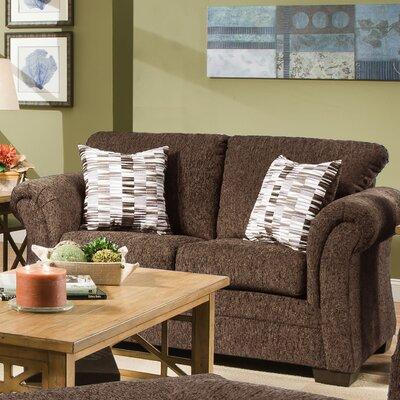 Simmons Upholstery Balcones Loveseat Upholstery: Brown