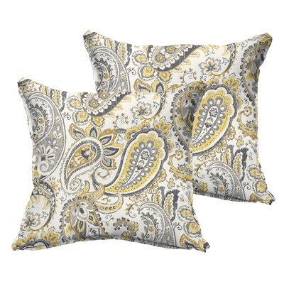 Frosses Paisley Flange Indoor/Outdoor Throw Pillow Size: 22 x 22