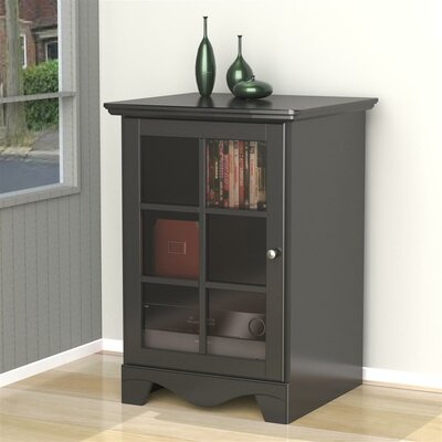Griffen 1 Door Audio Tower Finish: Black