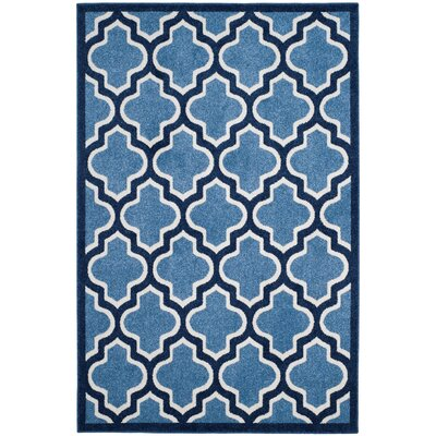 Amherst Light Blue/Navy Indoor/Outdoor Area Rug Rug Size: 5' x 8'
