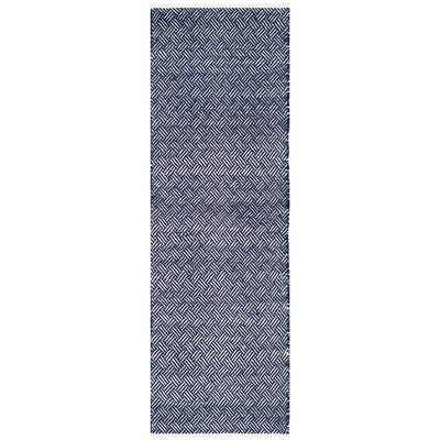 Boston Hand-Woven Navy Area Rug Rug Size: Runner 23 x 9