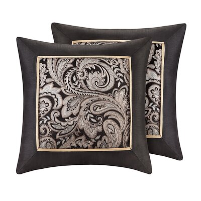 Pokanoket Silk Throw Pillow Color: Black