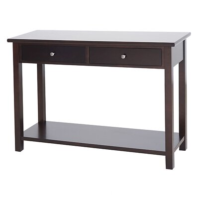 Blevins 2 Drawer Console Table in Dark Birch