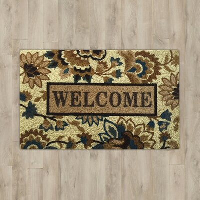 Savannah Heights Sabelle Welcome Doormat Color: Beige