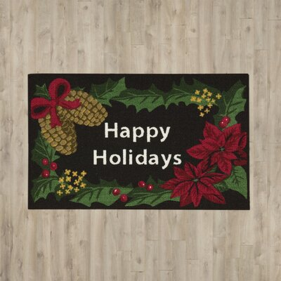 Christmas Happy Holidays Doormat