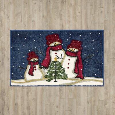 Alcott Hill Cedar Drive Snowmen and Tree Doormat