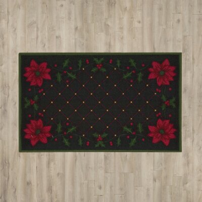 Christmas Poinsettia Doormat