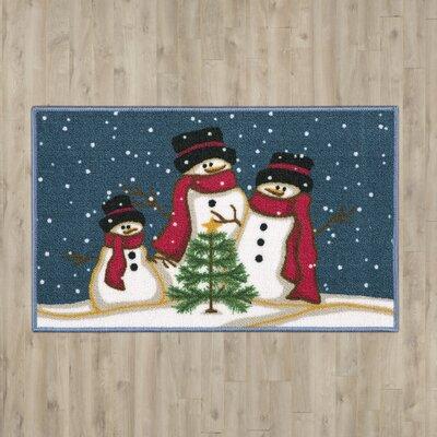 Christmas Snowmen Trio Doormat