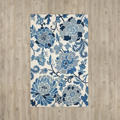 Martha Stewart Hand-Tufted Azurite Area Rug Rug Size: Rectangle 5 x 8