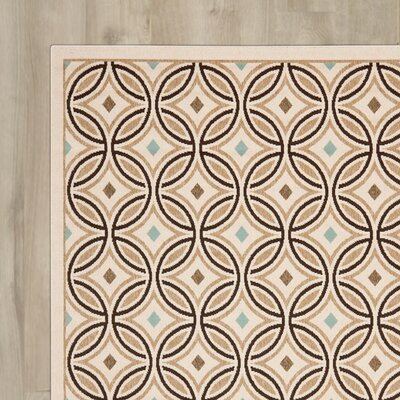 Bainsby Cream / Chocolate Indoor / Outdoor Area Rug