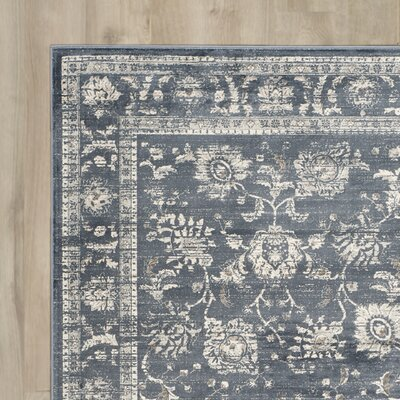 Bainsby Dark Grey / Cream Area Rug Rug Size: Rectangle 4 x 57