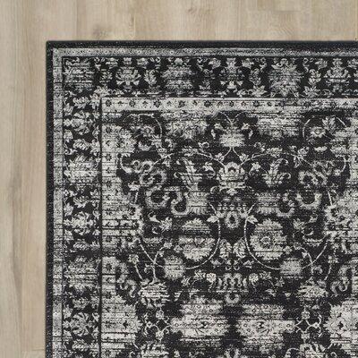 Bainsby Black/Light Grey Area Rug Rug Size: 51 x 77