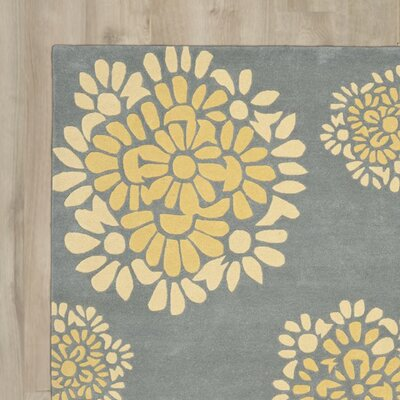 Martha Stewart Hand-Tufted Cement Area Rug Rug Size: 5 x 8