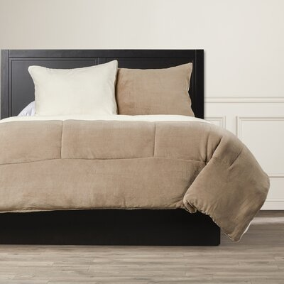 Bilmont Reversible Comforter Set Size: Full/Queen, Color: Taupe