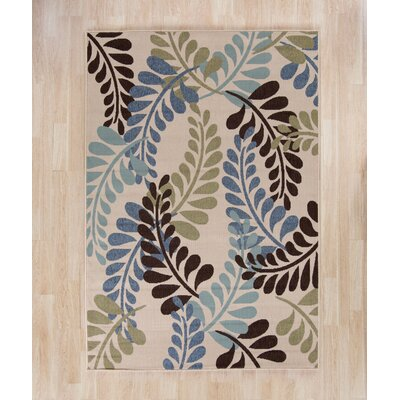 Dogwood Cream/Aqua Indoor/Outdoor Area Rug