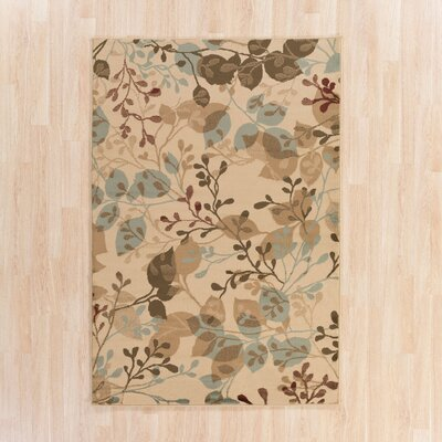 Lonsdale Raw Umber/Beige Area Rug Rug Size: Rectangle 67 x 96