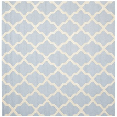 Sugar Pine Hand-Tufted Blue/Ivory Area Rug Rug Size: Square 6