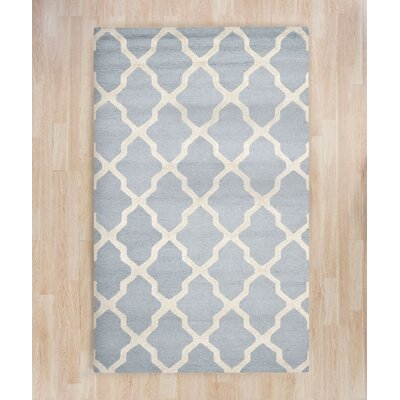Sugar Pine Hand-Tufted Blue/Ivory Area Rug Rug Size: 5' x 8' ALCT5141 28383909
