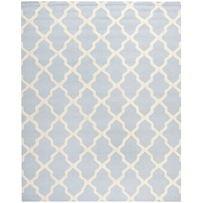 Sugar Pine Hand-Tufted Blue/Ivory Area Rug Rug Size: 6 x 9