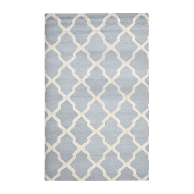 Sugar Pine Hand-Tufted Blue/Ivory Area Rug Rug Size: 4 x 6