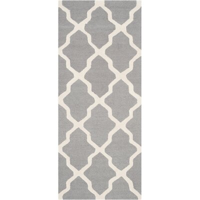 Sugar Pine Hand-Tufted Silver/Ivory Area Rug Rug Size: Runner 2'6