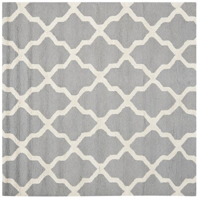Sugar Pine Hand-Tufted Gray Area Rug Rug Size: Square 4 x 4