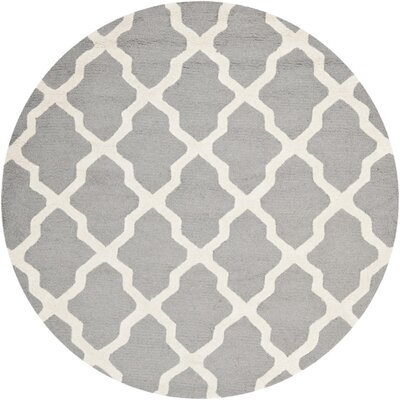 Sugar Pine Hand-Tufted Gray Area Rug Rug Size: Round 8 x 8