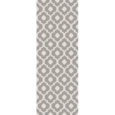 Oak Knoll Ivory/Light Grey Area Rug Rug Size: Runner 27 x 73