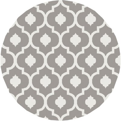Oak Knoll Ivory/Light Grey Area Rug Rug Size: Round 710