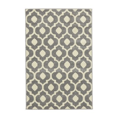 Oak Knoll Ivory/Light Grey Area Rug Rug Size: 53 x 73