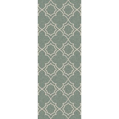 Amato Green Indoor/Outdoor Area Rug Rug Size: Runner 2'3