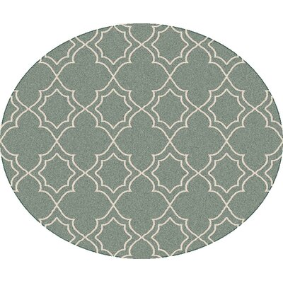 Amato Green Indoor/Outdoor Area Rug Rug Size: Round 89