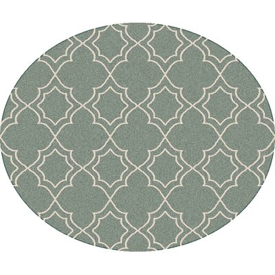 Amato Green Indoor/Outdoor Area Rug Rug Size: Round 7'3