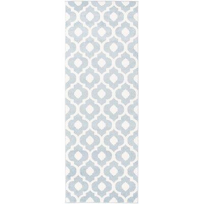 Carnstroan Ivory/Slate Geometric Area Rug Rug Size: Runner 27 x 73