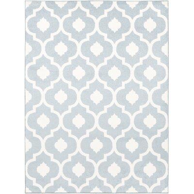 Carnstroan Ivory/Slate Geometric Area Rug Rug Size: 53 x 73