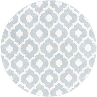 Carnstroan Ivory/Slate Geometric Area Rug Rug Size: Round 710