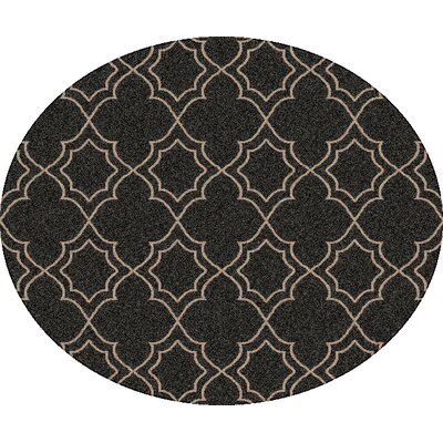 Amato Taupe Indoor/Outdoor Area Rug Rug Size: Round 53
