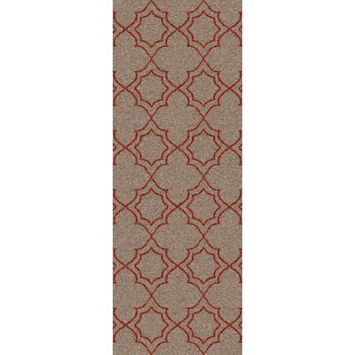 Amato Beige/Red Indoor/Outdoor Area Rug Rug Size: Runner 23 x 79