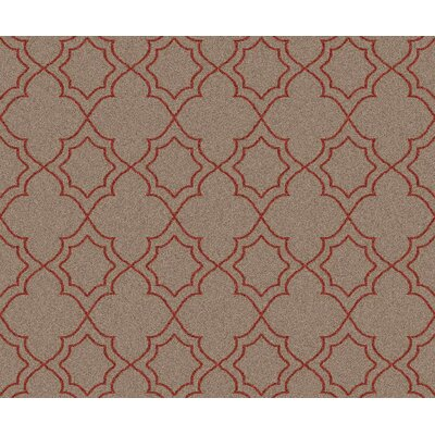 Amato Beige/Red Area Rug Rug Size: Square 7'3