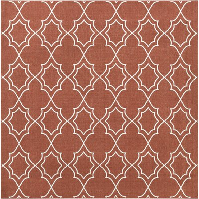 Amato Red Indoor/Outdoor Area Rug Rug Size: Square 89