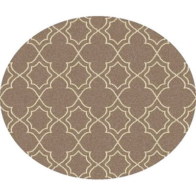 Amato Beige Indoor/Outdoor Area Rug Rug Size: Round 53