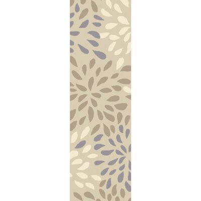 Carrie Hand-Tufted Ivory Area Rug Rug Size: Runner 2'6