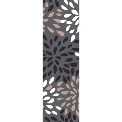 Carrie Hand-Tufted Gray Area Rug Rug Size: Runner 26 x 8