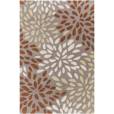 Carrie Hand-Tufted Rust/Lime Area Rug Rug Size: 8 x 11