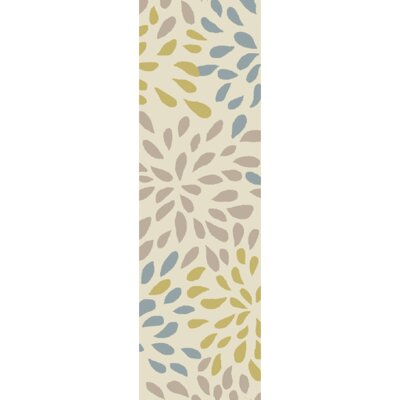 Carrie Hand-Tufted Moss/Olive Area Rug Rug Size: Runner 26 x 8