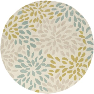 Carrie Hand-Tufted Moss/Olive Area Rug Rug Size: Round 8