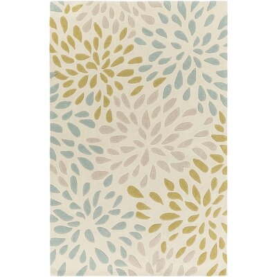 Carrie Hand-Tufted Moss/Olive Area Rug Rug Size: 2 x 3