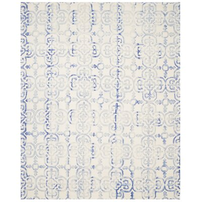 Carter Hand-Tufted Ivory/Blue Area Rug Rug Size: 8 x 10