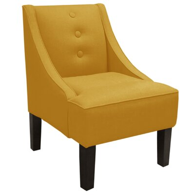 Moorcroft Linen Swoop Arm Chair Upholstery: French Yellow